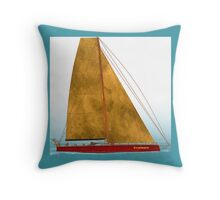Boat alone Throw Pillow