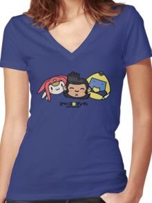 Space Dandy & Friends Women's Fitted V-Neck T-Shirt