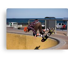 Backside Corner Ollie Air - Empire Park Skate Park Canvas Print