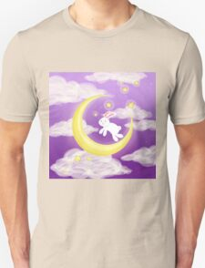 Moon Bunny Purple Unisex T-Shirt