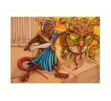 Perseus slays the Gorgon Art Print