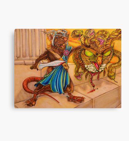 Perseus slays the Gorgon Canvas Print