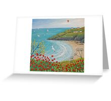 The Path to Poppy Bay Greeting Card