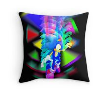 Sonic Color Trip Throw Pillow