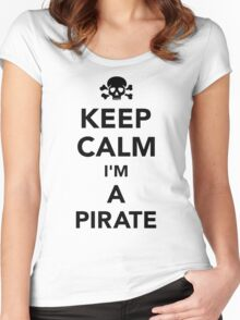 Keep calm I'm a pirate Women's Fitted Scoop T-Shirt