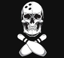 Bowling - Skull & Crossbones Kids Tee