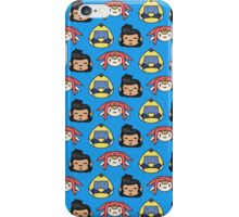 Space Dandy, Meow & QT Pattern iPhone Case/Skin