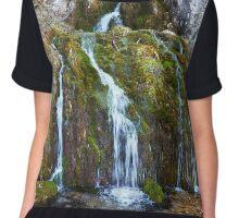 Waterfall on mossy rocks Chiffon Top