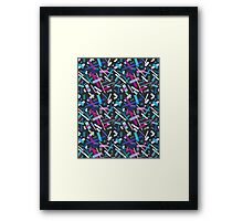 Colorful cool geometric pattern  Framed Print