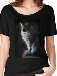Backlit Kitty Women's Relaxed Fit T-Shirt