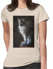 Backlit Kitty Womens Fitted T-Shirt
