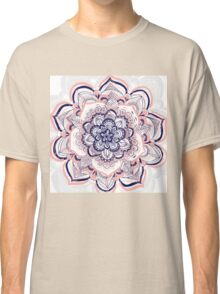 Woven Dream - Pink, Navy & White Mandala Classic T-Shirt
