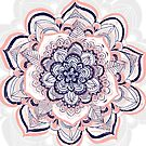 Woven Dream - Pink, Navy & White Mandala by Tangerine-Tane