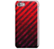 Ruby Red And Black Grunge Striped Design iPhone Case/Skin