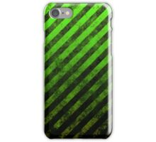 Lime Green And Black Grunge Striped Design iPhone Case/Skin