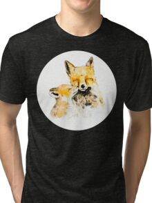 With Love and Fur Watercolor Painting Tri-blend T-Shirt