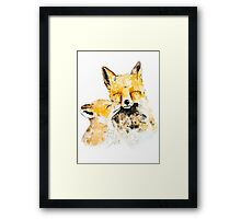 With Love and Fur Watercolor Painting Framed Print