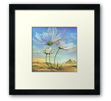In the Half-shadow of Wild Flowers Framed Print