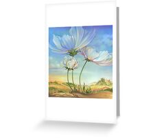 In the Half-shadow of Wild Flowers Greeting Card