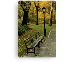 Fall In New York (Central Park) Canvas Print