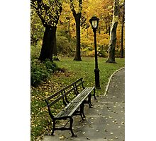 Fall In New York (Central Park) Photographic Print