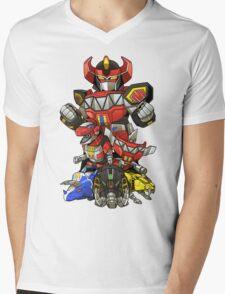 Dinosaur Robots Mens V-Neck T-Shirt
