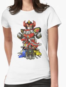 Dinosaur Robots Womens Fitted T-Shirt