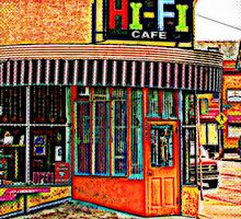 Hi- Fi Cafe in Milwaukee wisconsin  by JennCaen