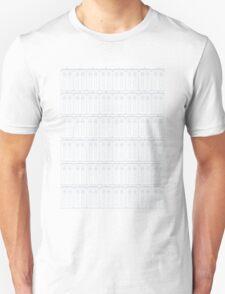 Doctor Who TARDIS Blueprint Pattern Unisex T-Shirt