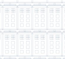 Doctor Who TARDIS Blueprint Pattern Sticker