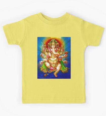 """""""GANESHA HINDU GOD"""" Vintage Deity Print Kids Tee"""