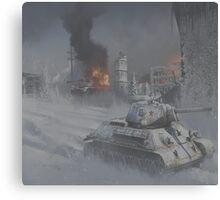 T34 WW2 tank Canvas Print