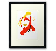 Ken silhouette/cutout (Street fighter) Framed Print