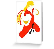 Ken silhouette/cutout (Street fighter) Greeting Card