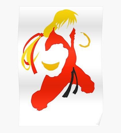 Ken silhouette/cutout (Street fighter) Poster