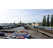 Trains in Stockholm, Sweden Photographic Print