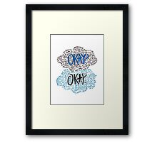 Okay Collage Framed Print
