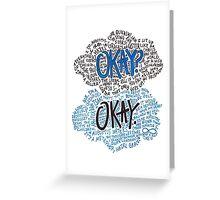 Okay Collage Greeting Card