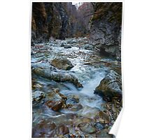 River in a canyon Poster