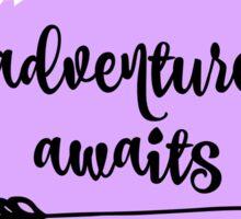 Adventure Awaits Quote  Sticker