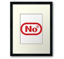 NINTEND-NO Framed Print