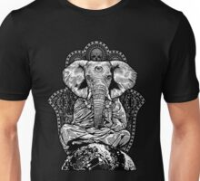 Yogaphant Black and White Unisex T-Shirt