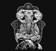 Yogaphant Black and White Unisex T-Shirt