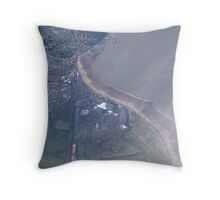 Butlins Minehead Somerset England. Bristol Channel from Above. Throw Pillow