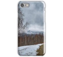 Road in the mountains iPhone Case/Skin