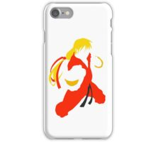 Ken silhouette/cutout (Street fighter) iPhone Case/Skin