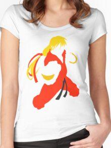 Ken silhouette/cutout (Street fighter) Women's Fitted Scoop T-Shirt