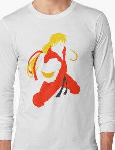 Ken silhouette/cutout (Street fighter) Long Sleeve T-Shirt