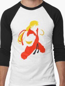 Ken silhouette/cutout (Street fighter) Men's Baseball ¾ T-Shirt
