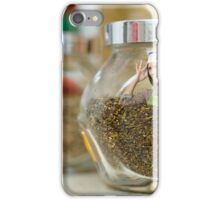 Conceptual shot of a woman cook inside a jar of condiments iPhone Case/Skin